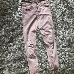 Dusty rose skinny jegging